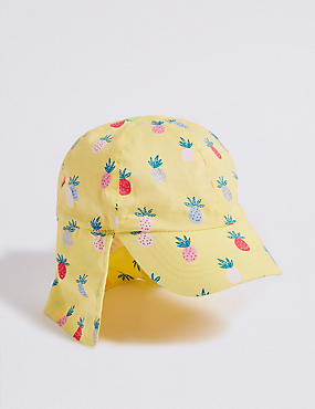 Kids' Pure Cotton Pineapple Print Summer Hat