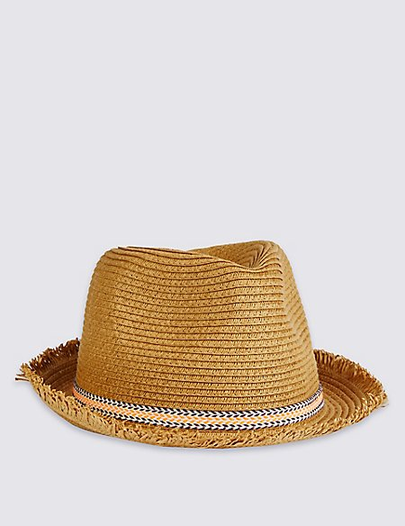 Kids' Frayed Edge Trilby Hat