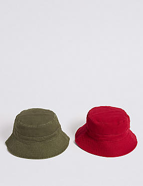 Kids' 2 Pack Summer Hats (3-14 Years)