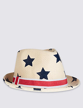 Kids' Star Print Trilby Hat