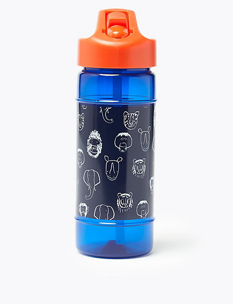Kids' Animal Face Water Bottle
