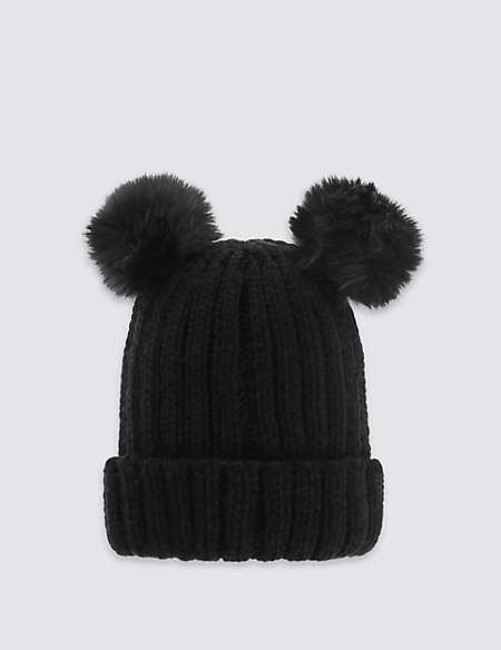 Kids' Double Pom Hat
