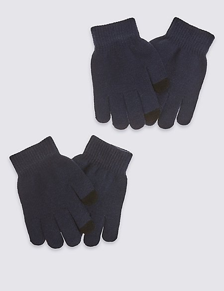 2 Pack Touch Screen Magic Gloves