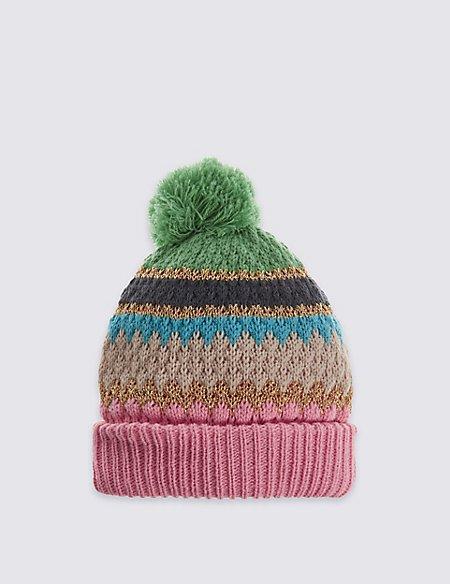 Kids' Lurex Pom Hat