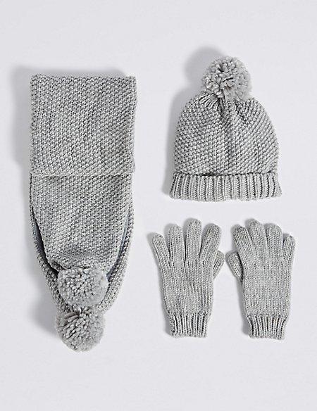 Kids' Hats & Scarves with Gloves Sets
