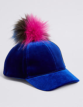 Kids' Pom-Pom Baseball Cap (3-14 Years)