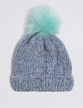 Kids' Chenille Pom-pom Hat (3-14 Years)