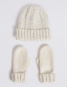 Kids' Sequin Hat & Gloves Set