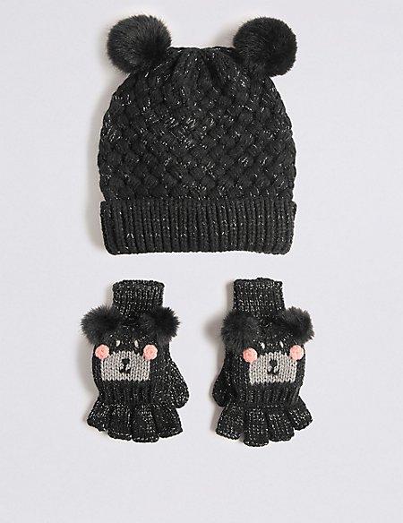 Kids' Hat & Mitten Set
