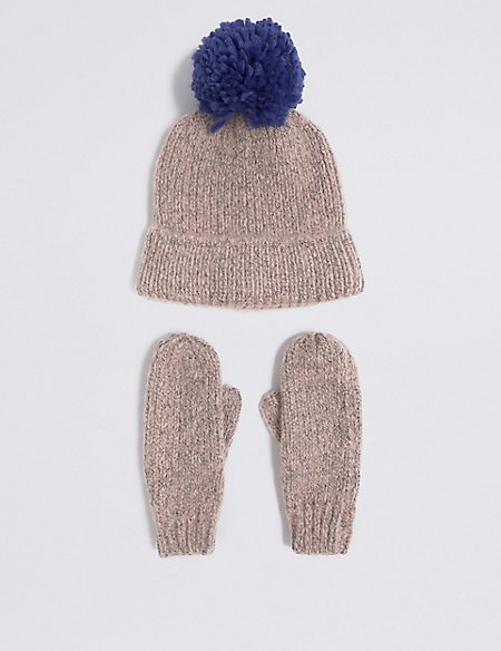 Kids' Hat & Mittens Set