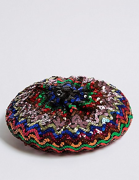 Kids' Sequin Beret