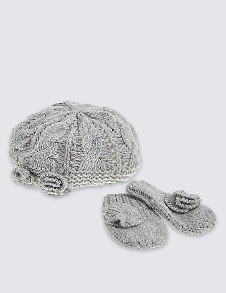 Kids' Beret Hat & Gloves Sets