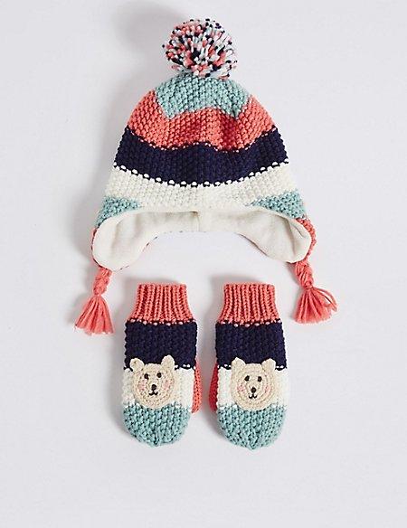 Kids' Hat & Mittens Set