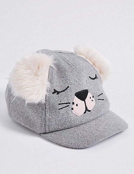 Kid's Fur Eared Novelty Baseball Cap (6 Months - 6 Years)