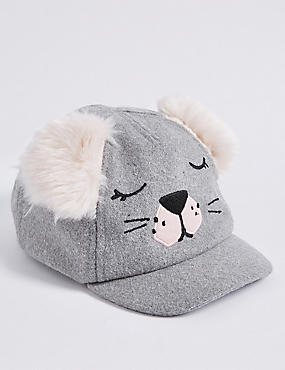 Kid's Fur Eared Novelty Baseball Cap (6 Months - 6 Years)