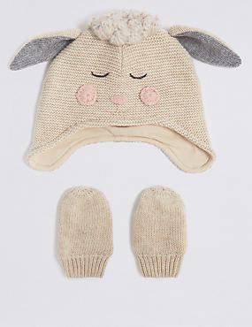 Baby Novelty Hat & Mittens Set