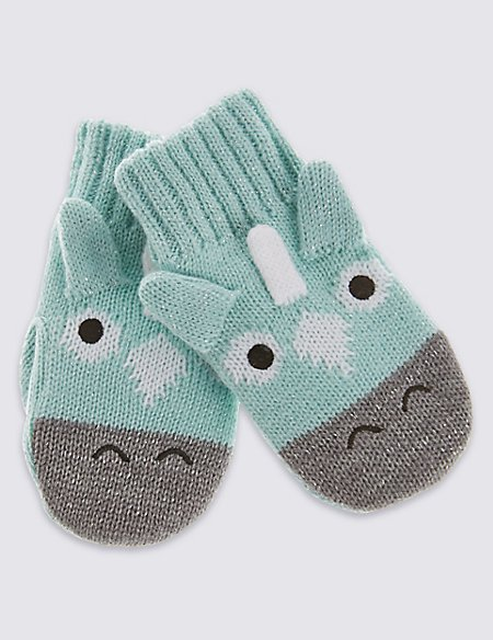 Kids' Unicorn Mittens