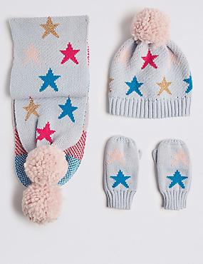 Kids' Hat & Scarf with Gloves Set