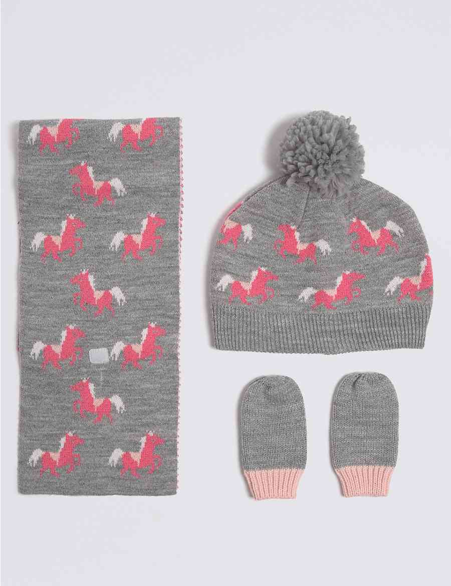 1ae8a35b7e9 Hat Scarf And Mittens Set - Image Of Hat