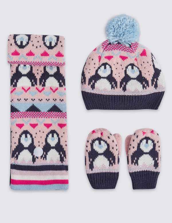 534f211f581 Kids  Fairisle Hat   Scarf with Mittens Set