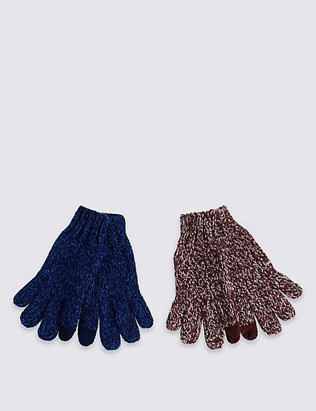 Kids' 2 Pack Touchscreen Gloves