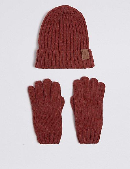Kids' Hat & Gloves Set
