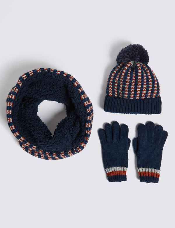 Kids' Hat, Snood & Gloves Set