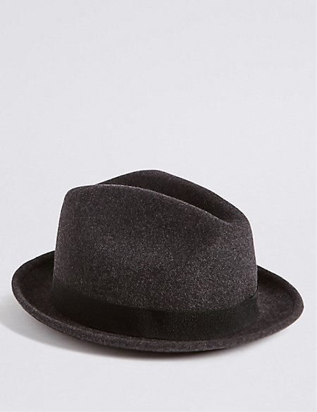 Kid's Pure Wool Trilby Hat