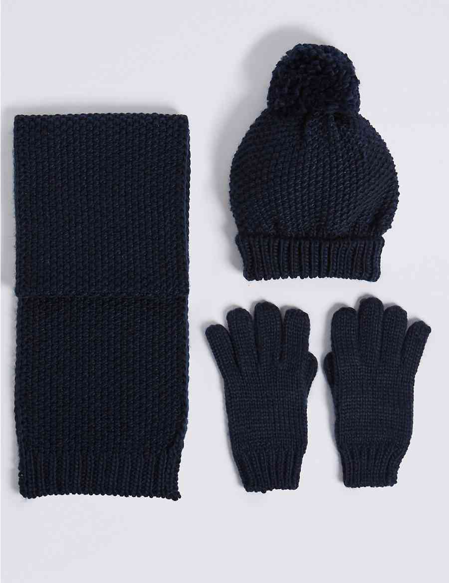 2da4d33b55f24 Kids  Hat   Scarf with Gloves Set