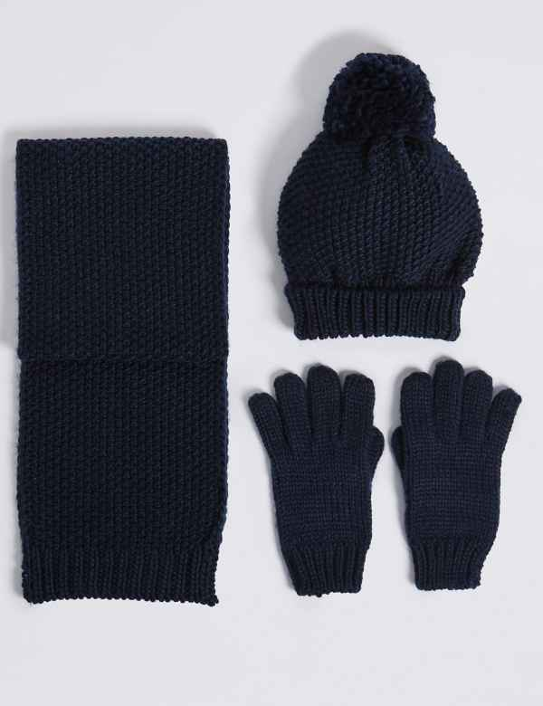 Kids  Hat   Scarf with Gloves Set 1d5bb6a5cd6
