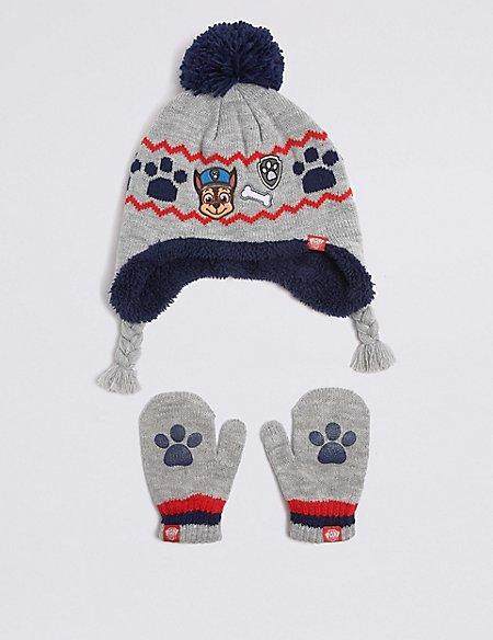 Kids' PAW Patrol™ Hat & Mittens Set