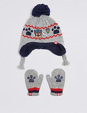 Kids' PAW Patrol™ Hat & Mittens Set