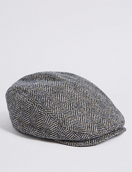 Kids' Pure Wool Flat Cap (6 Months - 6 Years)