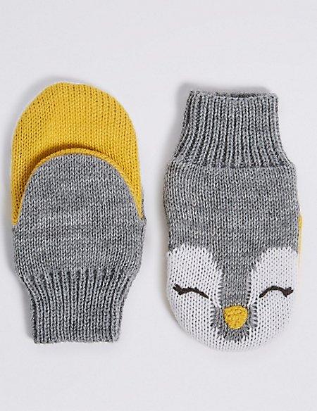 Kids' Novelty Penguin Mittens