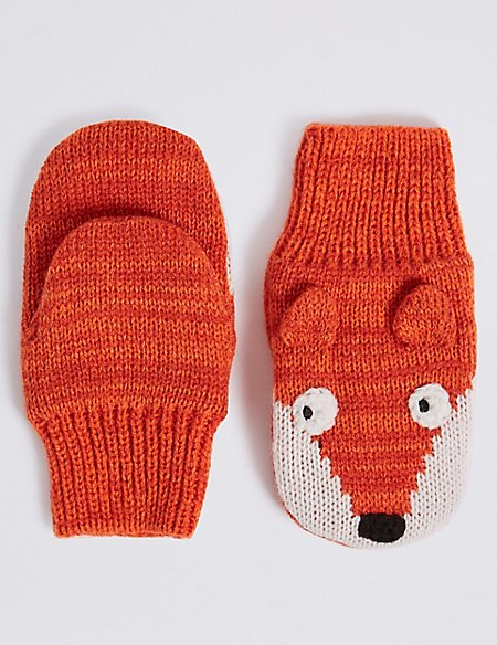 Kids' Fox Mittens