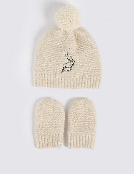 Baby Peter Rabbit™ Hat & Mittens Set