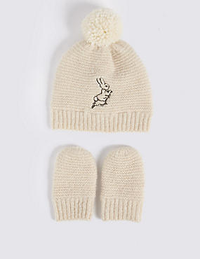 Baby Peter Rabbit™ Hat & Mittens Set