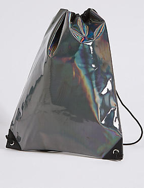 Kids' Holographic Drawstring Backpack