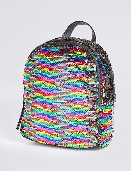 Kids' Rainbow Sequin Backpack