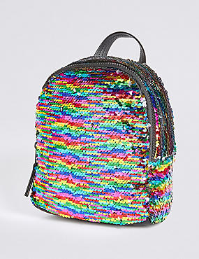 Kids' Rainbow Sequin Backpack