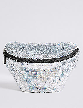Kids' Sequin Cross Body Bum Bag