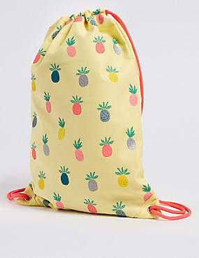 Kids' Pineapple Print Drawstring Backpack