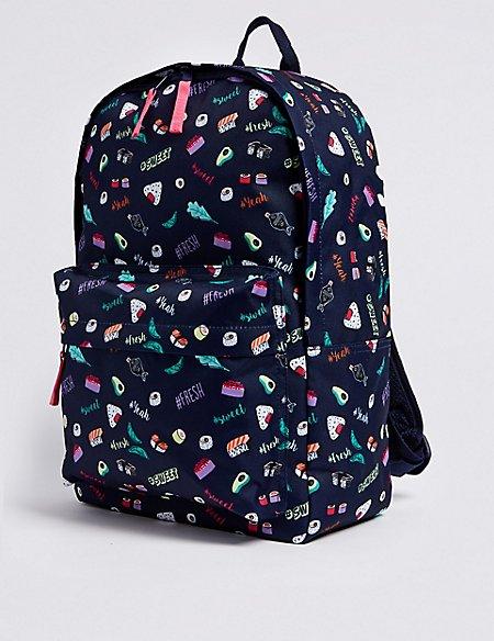 Kids' Sushi Print Backpack