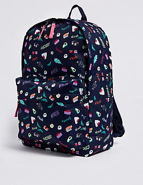 Kids' Sushi Print Backpack