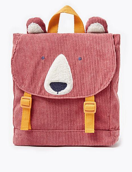 Kids' Cord Bear Print Backpack