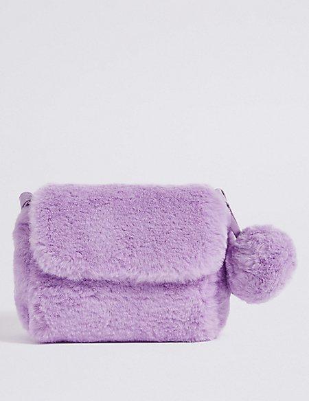 Kids' Faux Fur Novelty Cross Body Bag