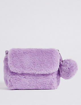 Kids' Faux Fur Novelty Cross Body Bag