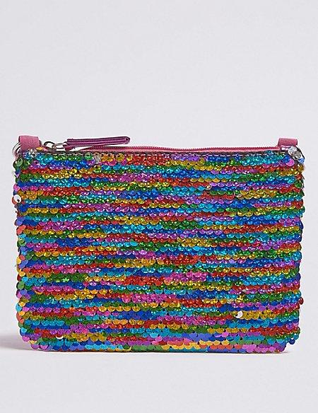 Kids' Multi Sequin Phone Bag