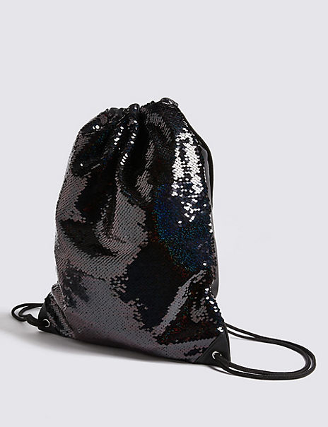 Kids' Sequin Drawstring Bag