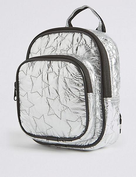 Kids' Metallic Star Pattern Mini Backpack